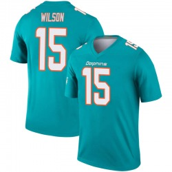 Nike Albert Wilson Miami Dolphins Youth Legend Aqua Inverted Jersey