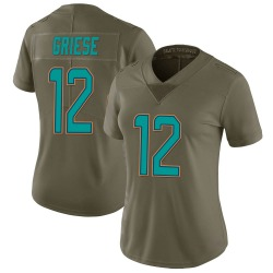 Nike Bob Griese Miami Dolphins Women's Limited Green 2017 Salute to Service Jersey