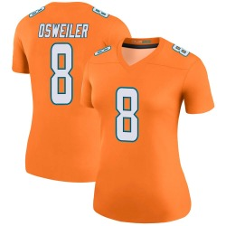 Nike Brock Osweiler Miami Dolphins Women's Legend Orange Color Rush Jersey