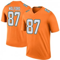 Nike Clive Walford Miami Dolphins Youth Legend Orange Color Rush Jersey