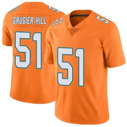 Nike Kamu Grugier-Hill Miami Dolphins Youth Limited Orange Color Rush Jersey