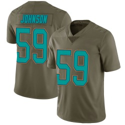 Nike Kylan Johnson Miami Dolphins Youth Limited Green 2017 Salute to Service Jersey