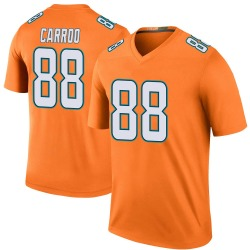 Nike Leonte Carroo Miami Dolphins Youth Legend Orange Color Rush Jersey