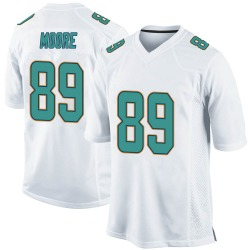 Nike Nat Moore Miami Dolphins Men's Game White Jersey