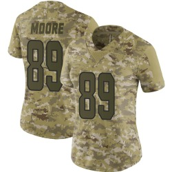 Nike Nat Moore Miami Dolphins Women's Limited Camo 2018 Salute to Service Jersey