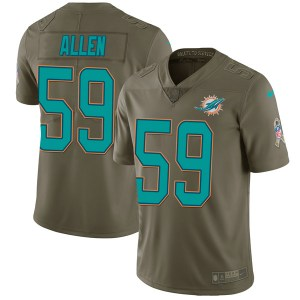 Nike Chase Allen Miami Dolphins Youth Limited Green 2017 Salute to Service Jersey