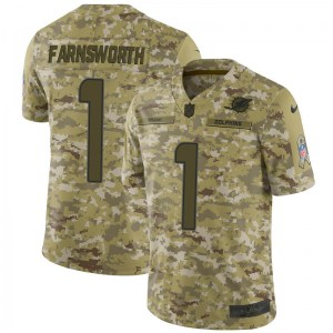 Nike Wes Farnsworth Miami Dolphins Men's Limited Camo 2018 Salute to Service Jersey