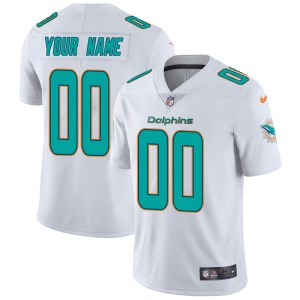 Nike Custom Miami Dolphins Youth White limited Vapor Untouchable Jersey