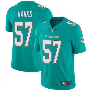 Nike Terrill Hanks Miami Dolphins Youth Limited Aqua Team Color Vapor Untouchable Jersey
