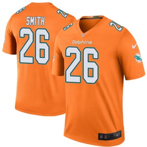 Nike Maurice Smith Miami Dolphins Youth Legend Orange Color Rush Jersey