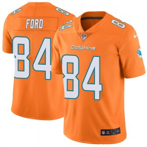 Nike Isaiah Ford Miami Dolphins Men's Limited Orange Color Rush Jersey