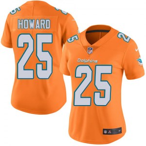 Nike Xavien Howard Miami Dolphins Women's Limited Orange Color Rush Jersey
